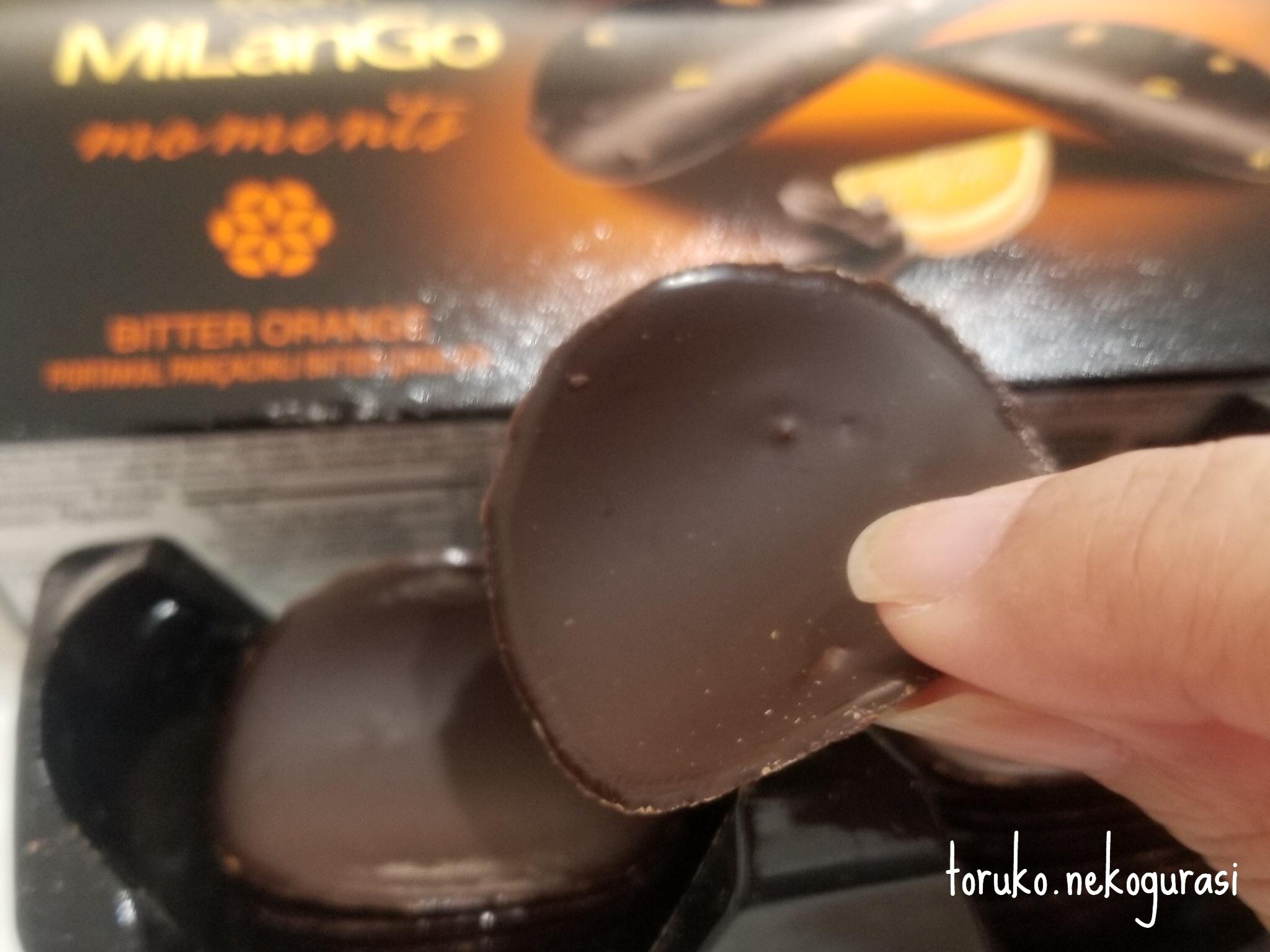 チョコ、オレンジピール